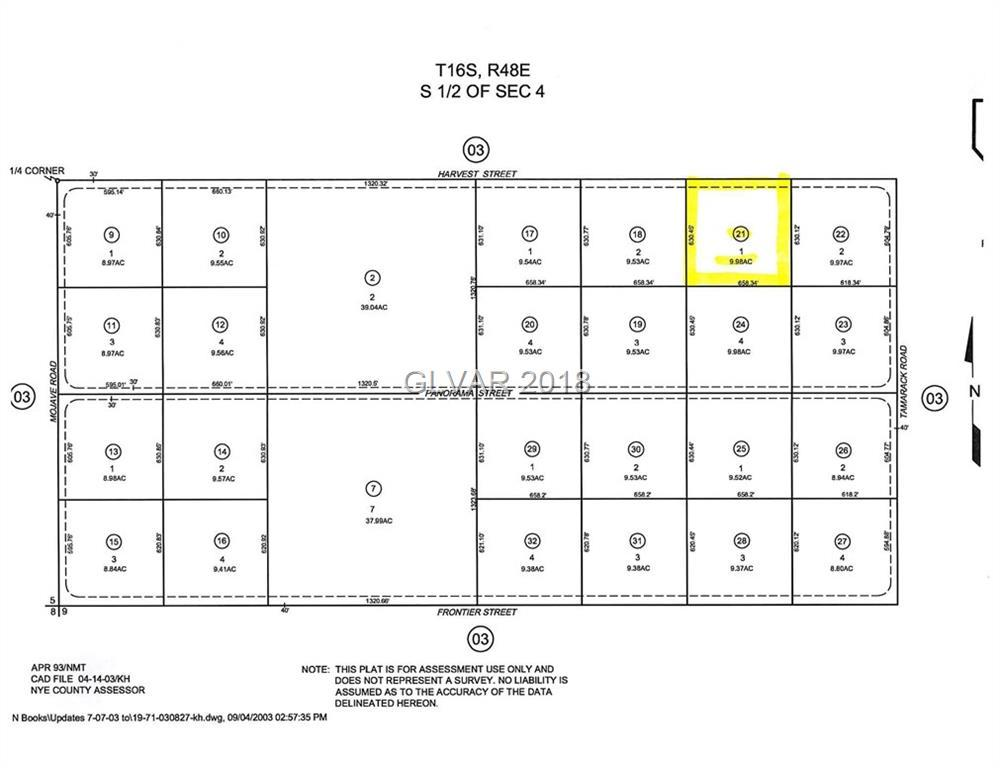 0 Harvest Street Amargosa, NV 89020 - MLS #: 1990216